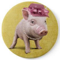 Miss Piggy Button