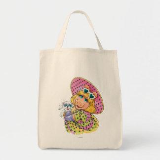 Miss Piggy Holding Puppy Canvas Bag