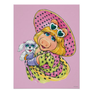Miss Piggy Holding Puppy Posters