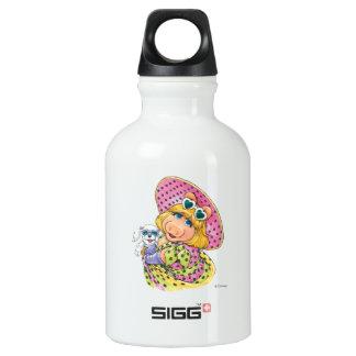 Miss Piggy Holding Puppy Water Bottle