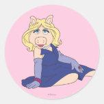 Miss Piggy in Purple Dress Classic Round Sticker