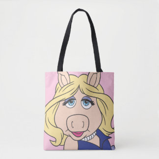 Miss Piggy in Purple Dress Tote Bag