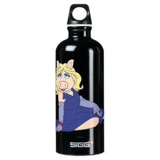 Miss Piggy in Purple Dress Water Bottle
