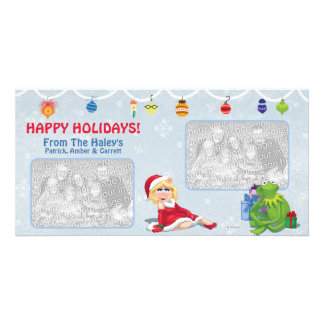 Miss Piggy & Kermit Holiday Photo Card