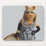 Miss Piggy Leaning on a chair Mouse Pads