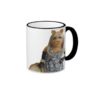 Miss Piggy Leaning on a chair Ringer Coffee Mug