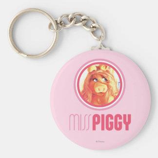 Miss Piggy Model Basic Round Button Keychain