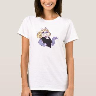 Miss Piggy standing in a styl Disney T-Shirt