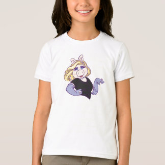 Miss Piggy standing in a styl Disney T-Shirt