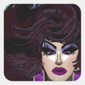 Miss Priscilla Velvet:  Virtual Queen Square Sticker