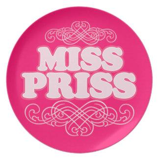 """MISS PRISS"" Designer Plate"