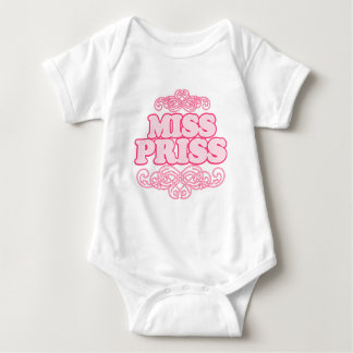 """Miss Priss"" Hot Pink Baby Bodysuit"