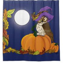 Miss Pumpkin Shower Curtain