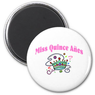 Miss Quince Anos 2 Inch Round Magnet