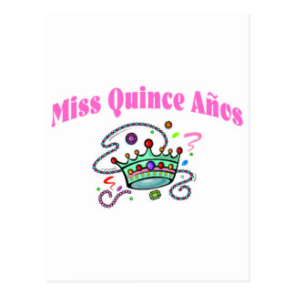 Miss Quince Anos Postcard