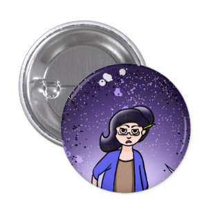 Miss Remedy Addams Button