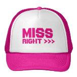Miss Right Arrows Self-Esteem Summer Party Cap Trucker Hat