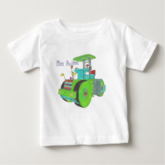 Miss Rollee construction vehicle road roller Baby T-Shirt