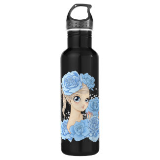 Miss Rose (blue/black) Water Bottle