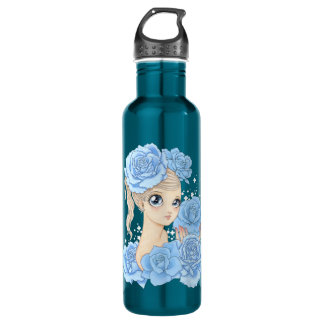 Miss Rose (blue/turquoise) Water Bottle