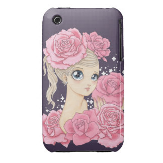 Miss Rose iPhone 3G case (pink/purple) Case-Mate iPhone 3 Case