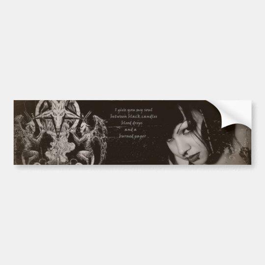 Miss Rose Noir Fan Art Bumper Sticker