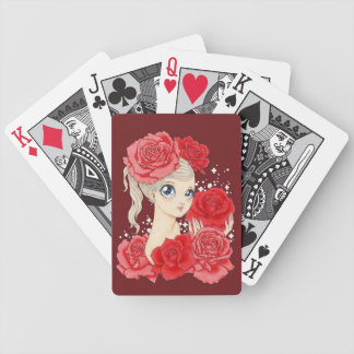 Miss Rose playing cards (red / cardinal red)