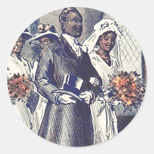 Miss Samantha Johnson's Wedding Round Stickers