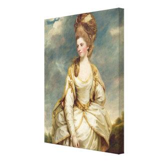 Miss Sarah Campbell, 1777-78 (oil on canvas) Canvas Print