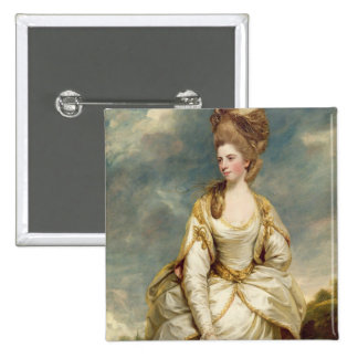 Miss Sarah Campbell, 1777-78 (oil on canvas) Pinback Button