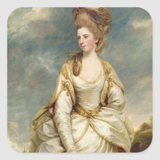 Miss Sarah Campbell, 1777-78 (oil on canvas) Square Sticker