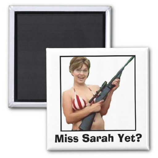 Miss Sarah Yet? 2 Inch Square Magnet