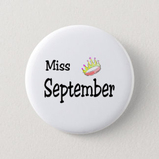 Miss September Pinback Button