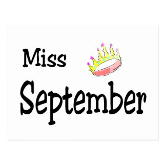 Miss September Postcard