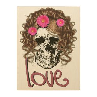 Miss Skull Wood Print