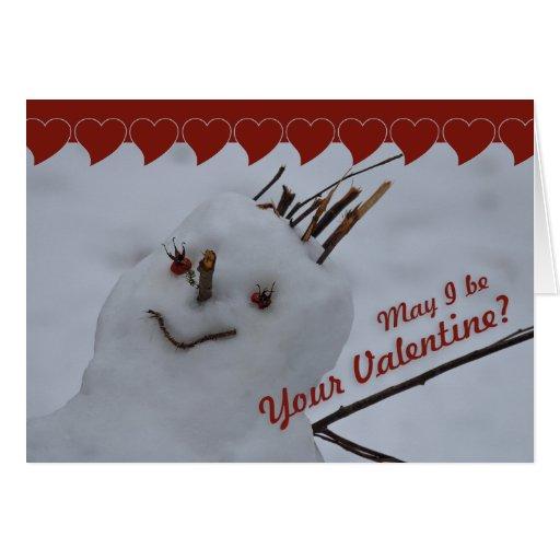 Miss Snowman CC0382 Valentine Greeting Card