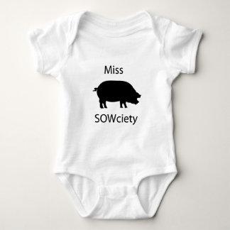 Miss sowciety baby bodysuit