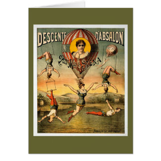 Miss Stena Flying Trapese Vintage Circus Poster Cards