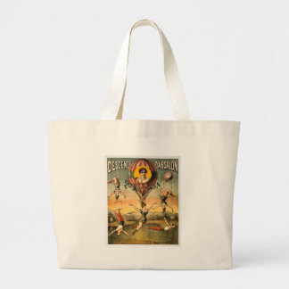 Miss Stena Flying Trapese Vintage Circus Poster Large Tote Bag