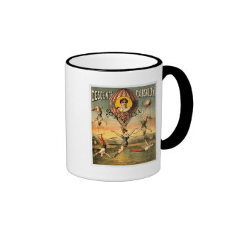 Miss Stena Flying Trapese Vintage Circus Poster Ringer Coffee Mug