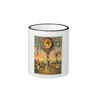 Miss Stena Flying Trapese Vintage Circus Poster Ringer Coffee Mug