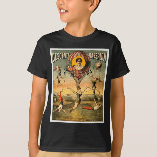 Miss Stena Flying Trapese Vintage Circus Poster T-Shirt