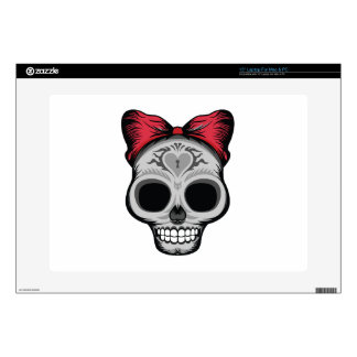 "Miss Sugar Skull Decal For 15"" Laptop"