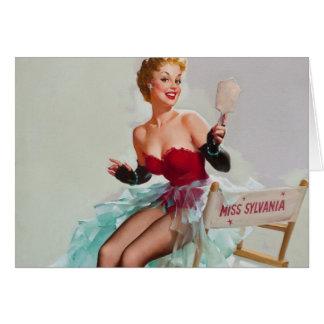 Miss Sylvania Pin-Up Girl Greeting Card
