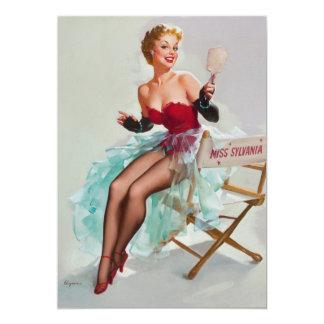 Miss Sylvania Pin-Up Girl Card