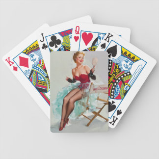 Miss Sylvania Pin-Up Girl Bicycle Playing Cards