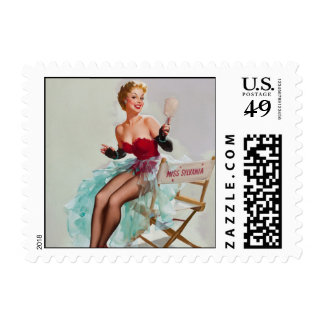 Miss Sylvania Pin-Up Girl Postage