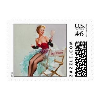 Miss Sylvania Pin-Up Girl Postage