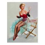 Miss Sylvania Pin-Up Girl Postcard
