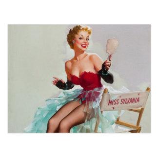 Miss Sylvania Pin-Up Girl Postcards